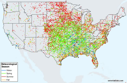 Tornado Averages by Region