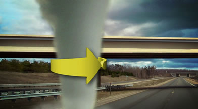 Why Not to Seek Shelter Under Overpasses During Tornados